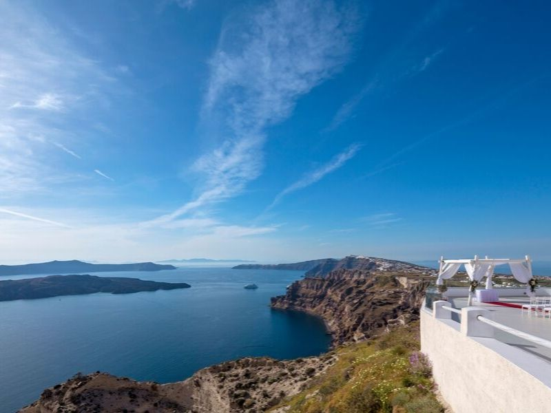Santo wines white wedding Santorini wedding 8