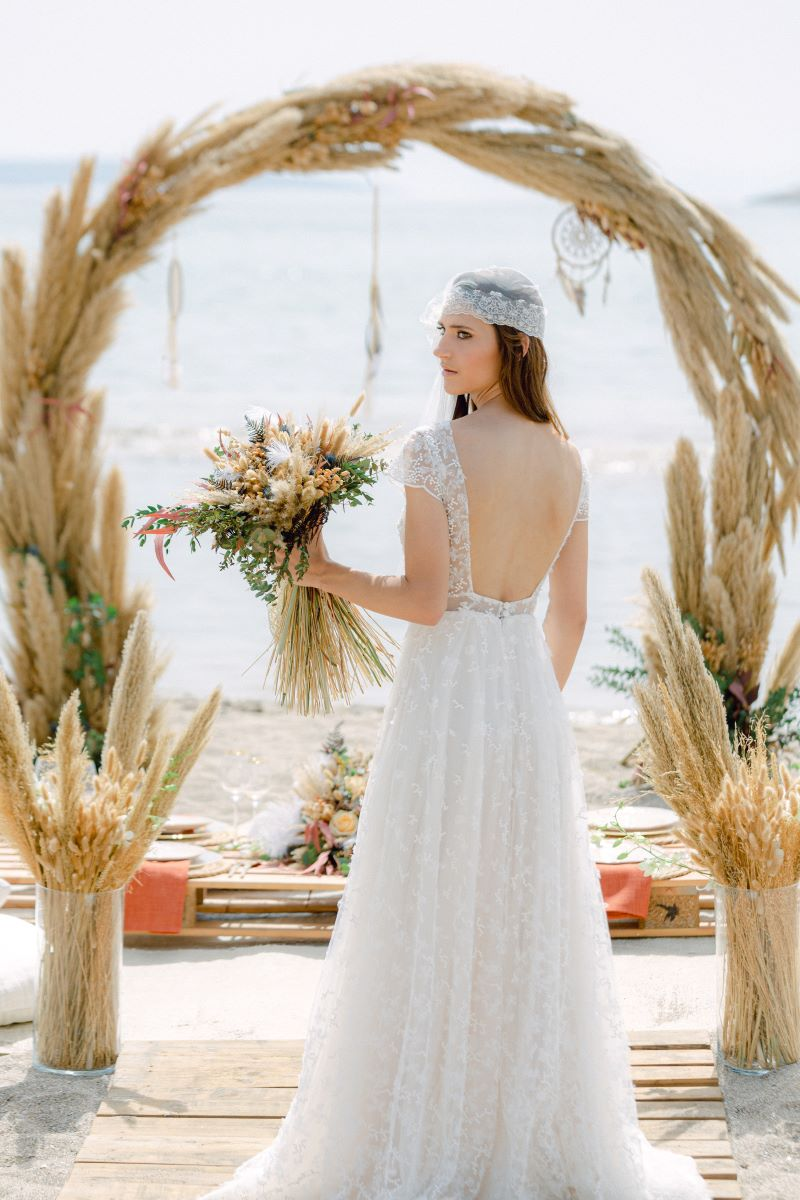Bohemian Wedding by the Sea -styled shoot by Sparkling Day Events
