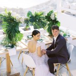 Antonia & Ryan - A chic, tropical themed wedding in Ios